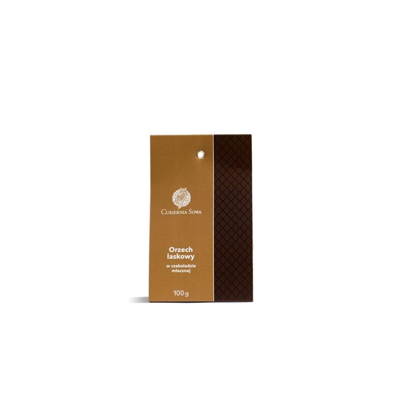 Orzech laskowy w czekoladzie mlecznej