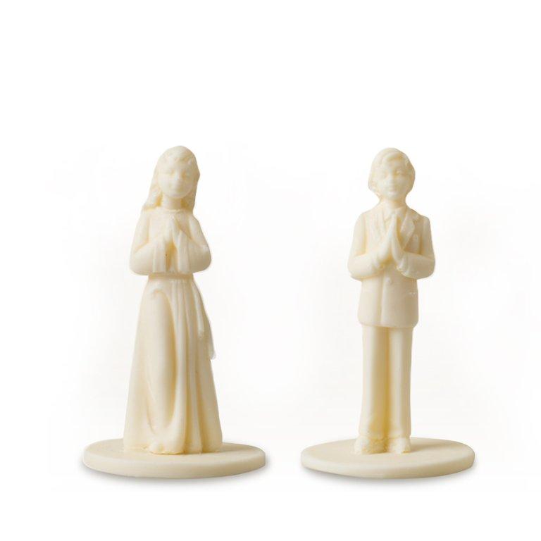 Figurki komunijne - chłopiec i dziewczynka