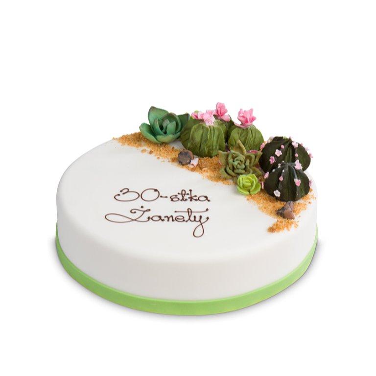 Tort Kaktusowy ogród