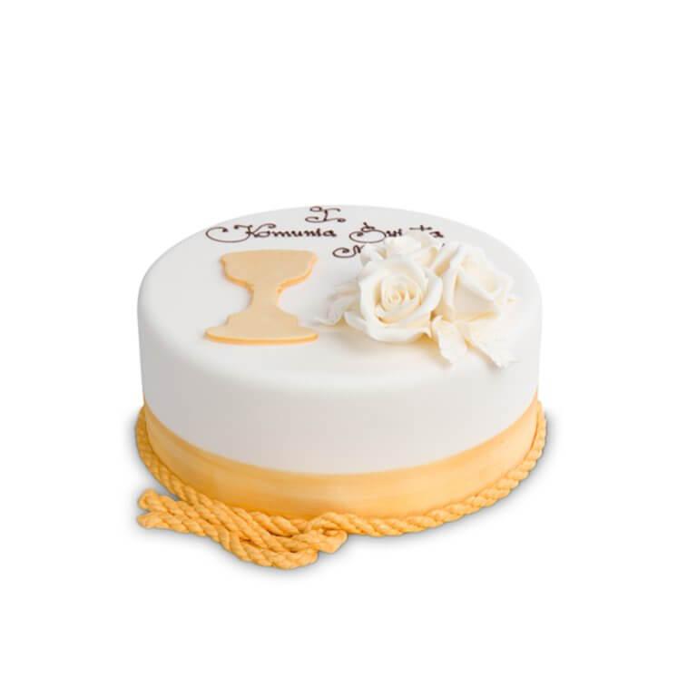 Tort komunijny - Złoty Kielich - Torty komunijne - Torty