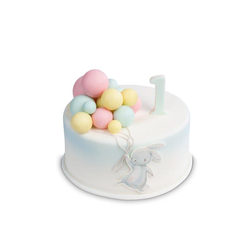 Tort Króliczek z balonikami - Torty ekstradekoracyjne - Torty