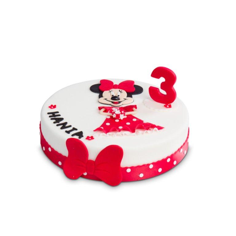 Tort Myszka Dziewczynka Płaski