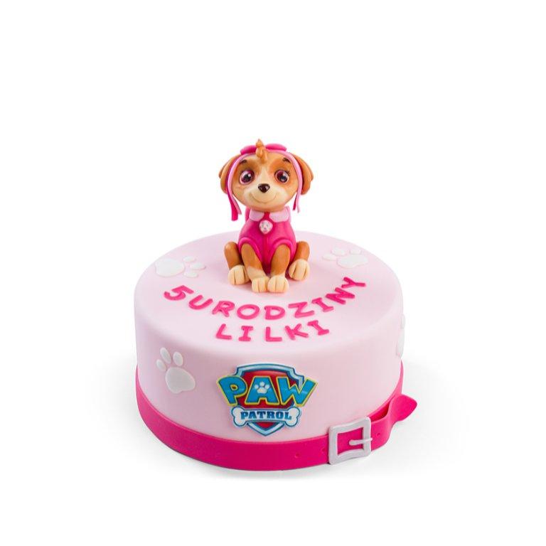 Tort Patrol Pies Różowy