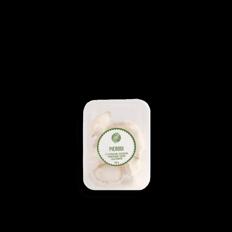 Pierogi ze szpinakiem i serem sałatkowym