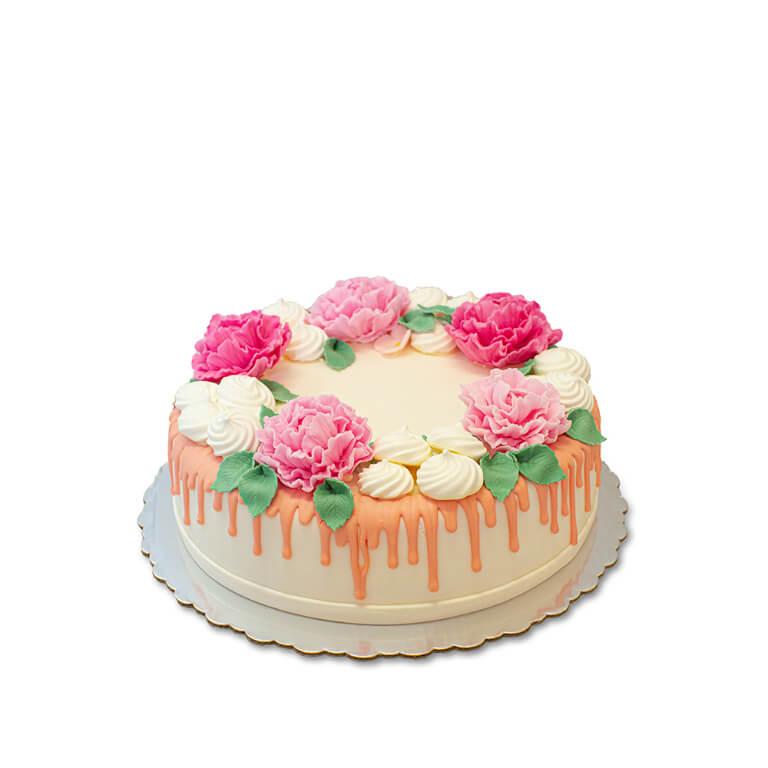 Tort Piwonie