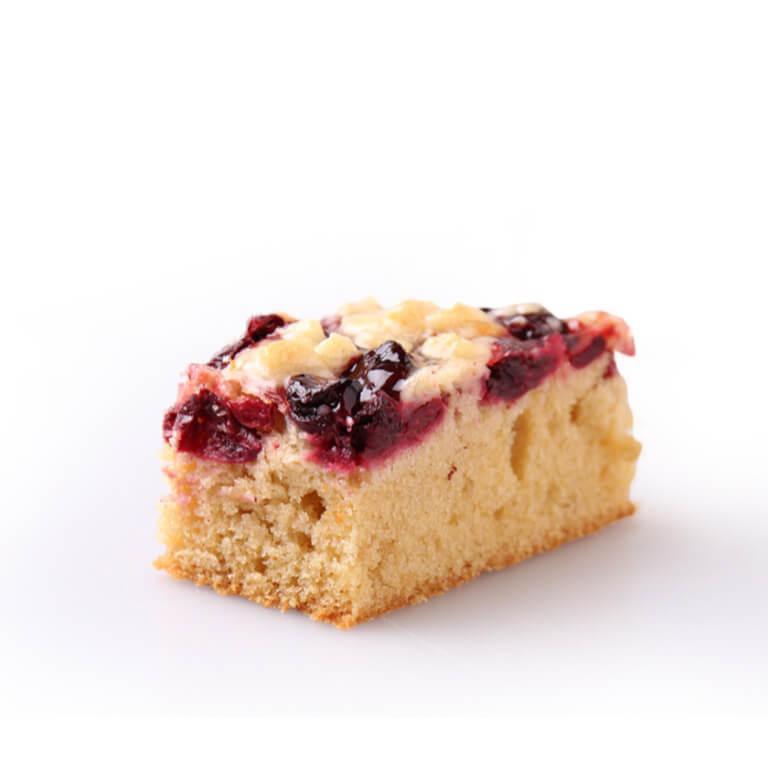 Placek migdałowy z wiśniami - Placki - Ciasta pieczone