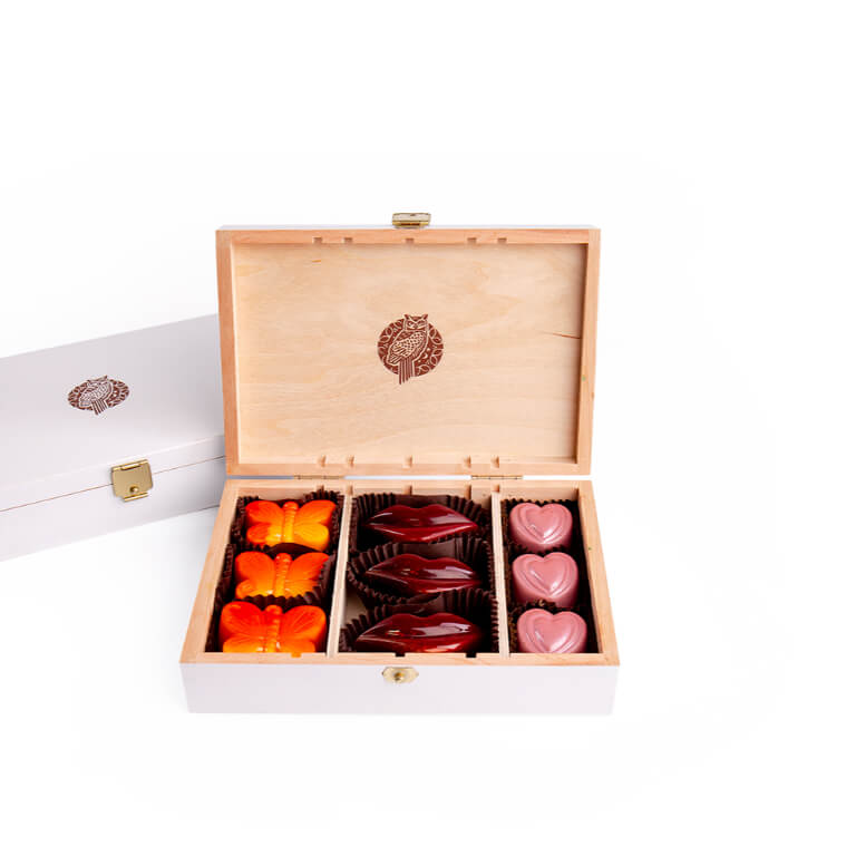 Pralines in a small box