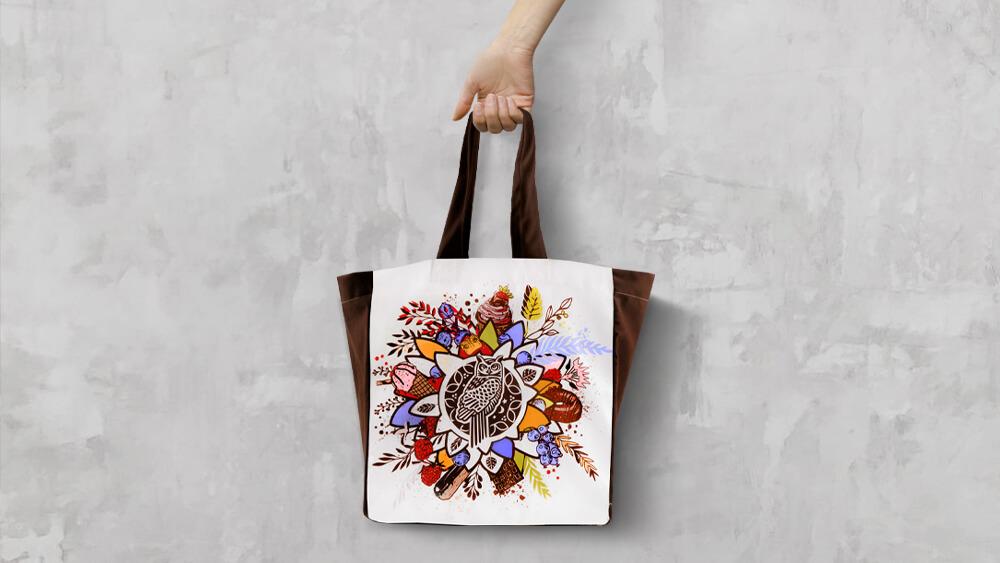 NOWOŚĆ - modna torba materiałowa