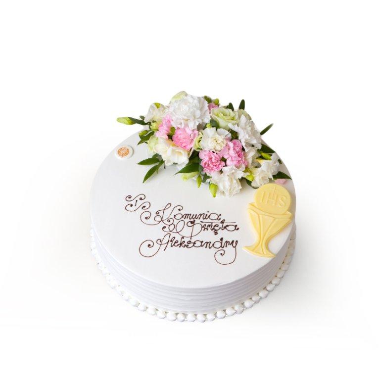 Tort dekoracyjny okrągły rustrykalny