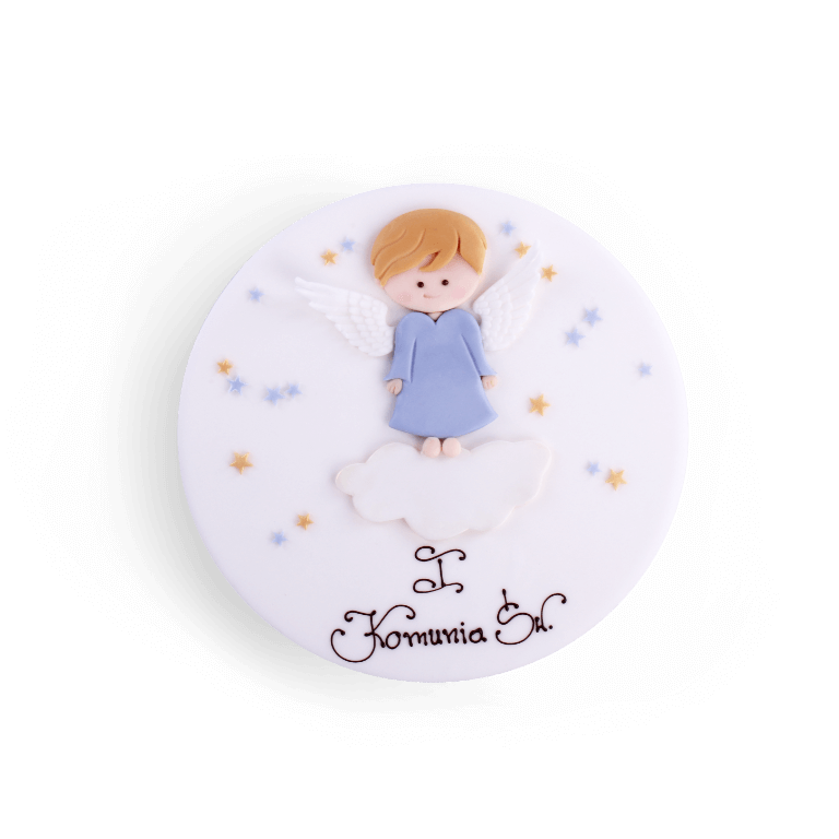 Tort dekoracyjny Chłopiec Aniołek