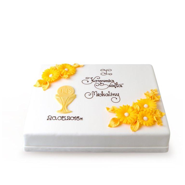 Tort dekoracyjny prostokątny - Torty komunijne - Torty