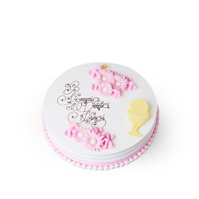 Tort dekoracyjny okrągły rustrykalny ombre